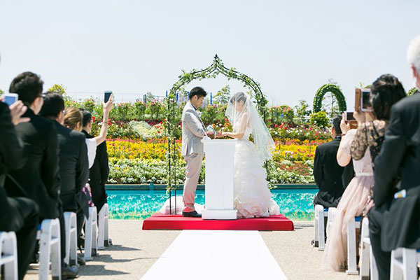 ブライダルフェアーの模擬結婚式